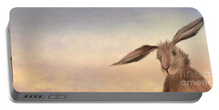 March Hare Portable Battery Charger by John Edwards