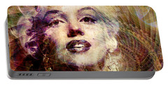 Marilyn Portable Battery Charger by Barbara Berney