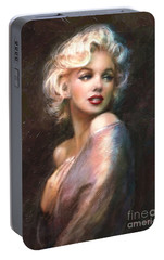 Marilyn Romantic Ww 1 Portable Battery Charger by Theo Danella