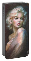 Marilyn Ww  Portable Battery Charger by Theo Danella