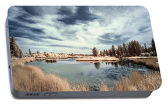 Marshlands In Washington Portable Battery Charger by Jon Glaser