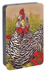 Matilda In The Geraniums Portable Battery Charger by Tracie Thompson