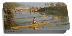 Max Schmitt In A Single Scull Portable Battery Charger by Thomas Cowperthwait Eakins