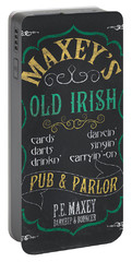 Maxey's Old Irish Pub Portable Battery Charger by Debbie DeWitt