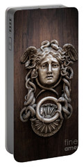 Medusa Head Door Knocker Portable Battery Charger by Edward Fielding