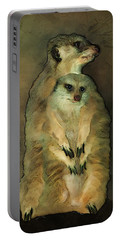 Meerkats Portable Battery Charger by Jack Zulli
