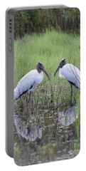 Meeting Of The Minds Portable Battery Charger by Carol Groenen