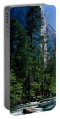Merced River And El Capitan Yosemite Portable Battery Charger by Panoramic Images