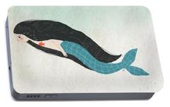 Mermaid Portable Battery Charger by Carolina Parada