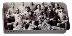 Michigan Wolverine Football Heritage 1890 Portable Battery Charger by Daniel Hagerman