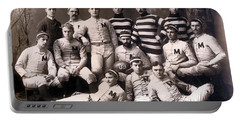 Michigan Wolverines Football Heritage 1888 Portable Battery Charger by Daniel Hagerman