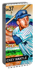 Mickey Mantle Portable Battery Charger by Lanjee Chee