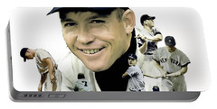 Mickey Mantle Legacy, II  Portable Battery Charger by Iconic Images Art Gallery David Pucciarelli