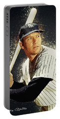 Mickey Mantle Portable Battery Charger by Taylan Soyturk