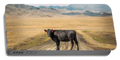 Middle Of The Road Portable Battery Charger by Todd Klassy