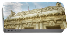 Milan Italy Train Station Facade Portable Battery Charger by Joan Carroll