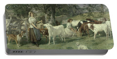 Milkmaids Portable Battery Charger by Basil Bradley