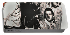 Million Dollar Quartet Portable Battery Charger by Luis Ludzska