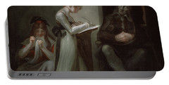 Milton Dictating To His Daughter Portable Battery Charger by Henry Fuseli