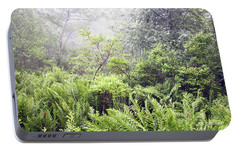 Portable Battery Charger featuring the photograph Misty Afternoon In An Eastern Forest Thicket, Pennsylvanis by A Gurmankin