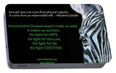 Mito Awareness Zebra Portable Battery Charger by Sarah Batalka
