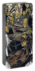 Mocking Birds And Rattlesnake Portable Battery Charger by John James Audubon