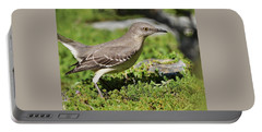 Mockingbird Foraging 1 Portable Battery Charger by Linda Brody