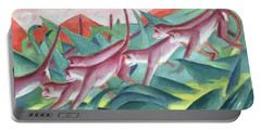 Monkey Frieze Portable Battery Charger by Franz Marc