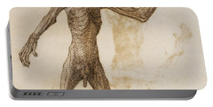 Monkey Standing, Anterior View Portable Battery Charger by George Stubbs