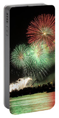 Montreal-fireworks Portable Battery Charger by Mircea Costina Photography