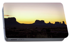 Portable Battery Charger featuring the photograph Monument Valley Sunrise, Utah by A Gurmankin