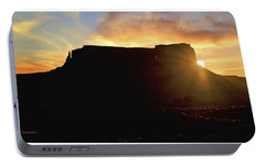 Portable Battery Charger featuring the photograph Monument Valley, Utah, Sunrise by A Gurmankin