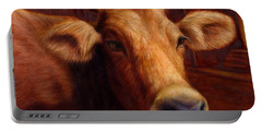 Mrs. O'leary's Cow Portable Battery Charger by James W Johnson
