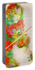 Music In My Soul Portable Battery Charger by Nikki Smith