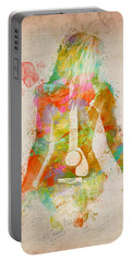 Music Was My First Love Portable Battery Charger by Nikki Marie Smith