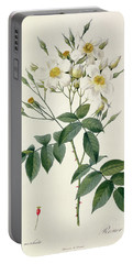 Musk Rose Portable Battery Charger by Pierre Joseph Redoute