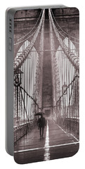 Mystery Man Of Brooklyn Portable Battery Charger by Az Jackson