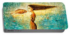 Mystic Mermaid Iv Portable Battery Charger by Shijun Munns