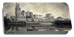 Nashville Skyline II Portable Battery Charger by Janet King