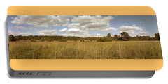 Natural Meadow Landscape Panorama. Portable Battery Charger by Arletta Cwalina