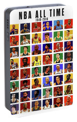 Nba All Times Portable Battery Charger by Semih Yurdabak