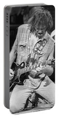 Neil Young Portable Battery Charger by David Plastik
