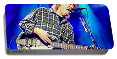 Neil Young In Concert Portable Battery Charger by John Malone