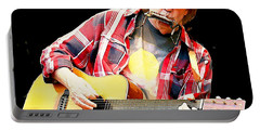 Neil Young Portable Battery Charger by John Malone