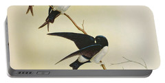 Nepal House Martin Portable Battery Charger by John Gould