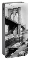 New York City Brooklyn Bridge Portable Battery Charger by Edward Fielding
