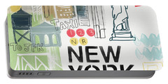 New York Cityscape- Art By Linda Woods Portable Battery Charger by Linda Woods