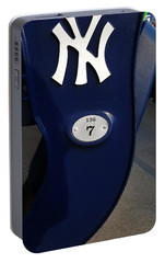 New York Yankee Seat Portable Battery Charger by Rob Hans