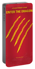 No026 My Enter The Dragon Minimal Movie Poster Portable Battery Charger by Chungkong Art