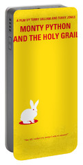 No036 My Monty Python And The Holy Grail Minimal Movie Poster Portable Battery Charger by Chungkong Art